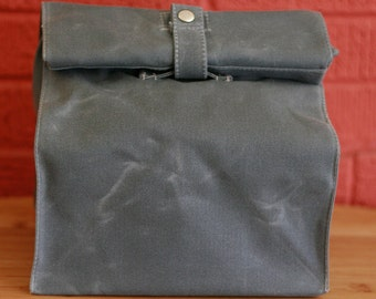 Waxed Canvas Reusable Lunchbag: Large Appetite