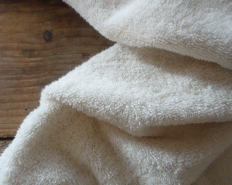 very soft cotton TOWEL _ bath or hand, handmade from unbleached organic cotton terry fabric (MAALIKAA collection)