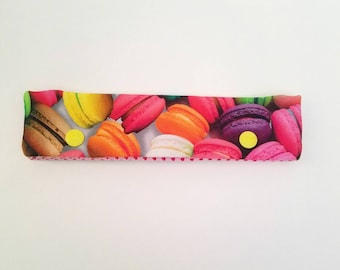 Macaron DPN holder, knitting needle case, DPN case, double pointed needle holder, knitting needle cozy, DPN holder