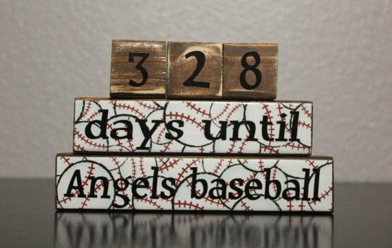 Baseball Countdown Blocks - Personalized