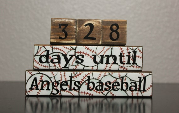 Baseball Countdown Blocks - Personalized