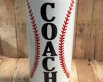 Baseball Coach Water Bottle, Personalized Baseball Coach Gift, 40 oz Stainless Steel Thermal Bottle,