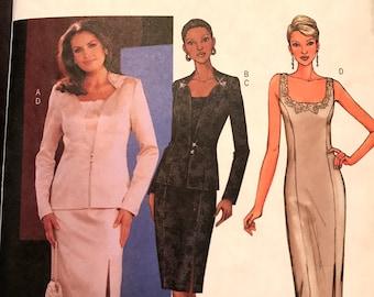 Sizzling Evening Dress Pattern---Butterick 3643---Sizes 14-16-18  UNCUT
