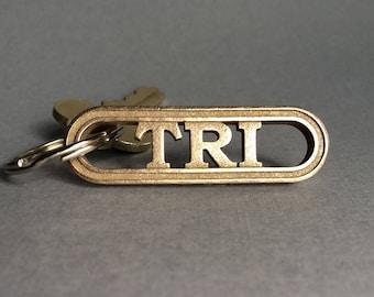 Triathlete Keychain Gift, Triathlon Gear, Tri Accessory, Swim Bike Run, Training Inspiration, Tri Keyring, Triathlete Jewelry