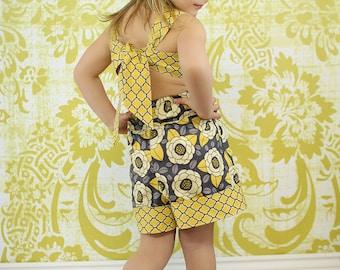 Rayna's Retro Romper PDF Pattern sizes 6/12 months to 8 girls