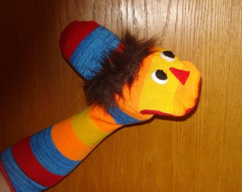 Wild & Colorful Striped Sock Puppet interactive play time  language skills