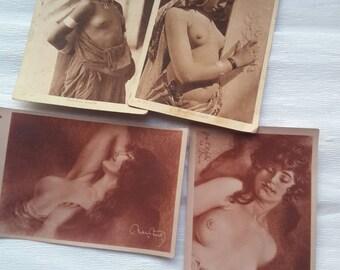Antique Risque Postcards Lot