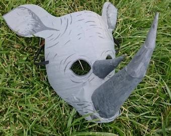Rhinoceros mask, rhinoceros costume