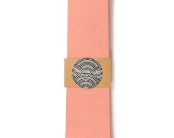 Korallen-Krawatte - Hochzeit Herren Krawatte dünne Krawatte Bio Baumwolle-gelegt-Back-Krawatte