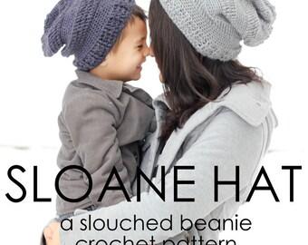 Sloane Hat - a slouchy beanie crochet pattern