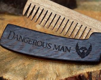 Wooden Beard Comb, Dangerous Man