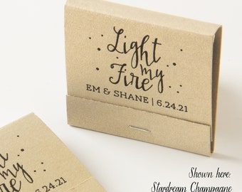 LIGHT MY FIRE Matchbooks - Wedding Favors, Wedding Matches, Wedding Decor, Personalized Matches, Matchbook Favors, Party Favors, Foil Print