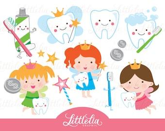 Tooth fairy - teeth clipart - 15060