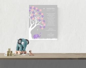 Baby Girl Dedication | Godchild Print | Baby Christening Gift | Girl Baptism Gift | Girl Baby Name Art | Gift For Baptism - 44077