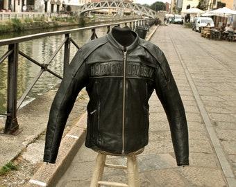 Motorcycle Leather Jacket Harley Davidson original vintage size L