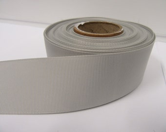 Grosgrain Ribbon 3mm, 6mm 10mm 16mm 22mm 38mm 50mm Rolls, Light Silver / Grey ,2, 10, 20 or 50 metres, Ribbed Double sided,