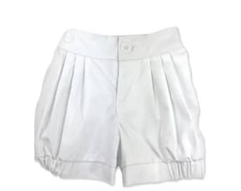 Girls Shorts, Girls Bloomer Shorts, Girls White Shorts, Kids Clothing, Girls Clothing, Elastic Waist Shorts