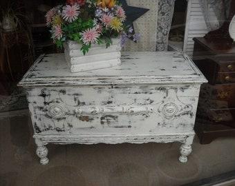 Antique Cedar Chest Painted Furniture