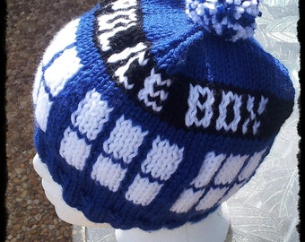 Doctor Who-inspired Police Box Hat- Adult- Washable