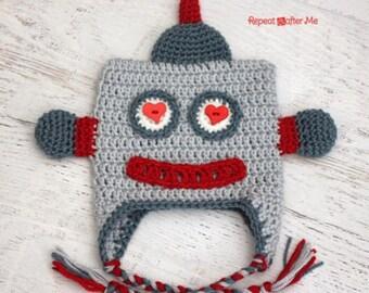Love robot hat