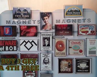 Twin Peaks Fridge Magnet. Choice of Design. Agent Cooper, Coffee, Bob