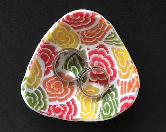 Ring dish, ring bowl, trinket dish, jewellery storage, polymer clay ring dish,