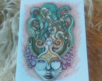 Medusa, Lady of the Snakes Greeting Card