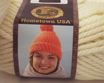 Lion Brand Hometown USA Yarn in Eggshell Super Bulky 81 Yards