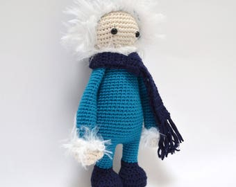 doll  Nolan Inuit doll made with crochet
