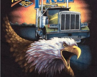 1988 DEADSTOCK 3D Emblem TRUCKERS ONLY Paper Thin Soft Vintage Shirt New and Unworn