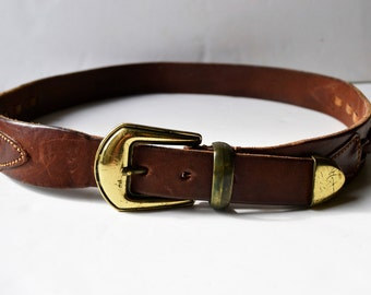 vintage leather belt,Size 85/34, width 3.5 cm-1 1/3 inches