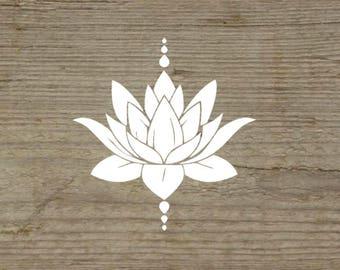 Lotus flower yoga etsy lotus flower lotus flower decal meditation decal yoga decal natural lotus mightylinksfo
