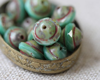 Spring Burst - Picasso Czech Glass UFO Beads (4483-10)