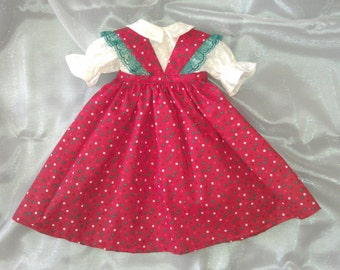 Christmas holiday outfit for American Girl and 18 inch dolls