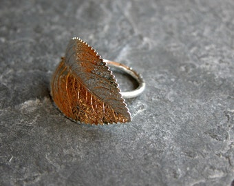 Mother Gift For women, Leaf Jewelry, Leaf Ring, Silver Ring, Silver Leaf Ring ,Cocktail Ring , Statement Ring, Leaf Jewelry Set