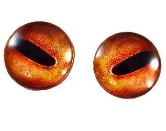 Octopus Glass Eyes - 25mm - Glass Eyes - Orange