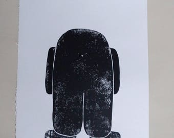 friend linoprint