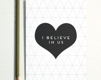 I Believe In Us Greeting Card, long distance boyfriend gift, boyfriend gift, long distance card, long distance relationship card