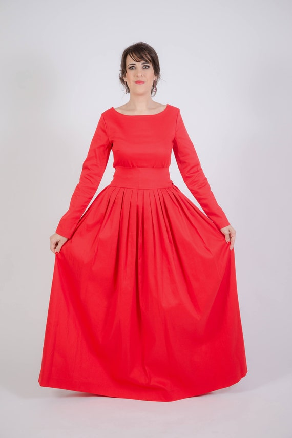 Red Wedding Gypsy Hippie Dress Red Dresses Christmas Day Maxi