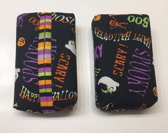 Qty 1- Halloween Words Personal Tissue Cover, Trendy print,Personal size, purse size, pocket size, travel size,N STOCK, ready to ship