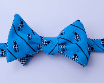 Polo Player Bow Tie - blue