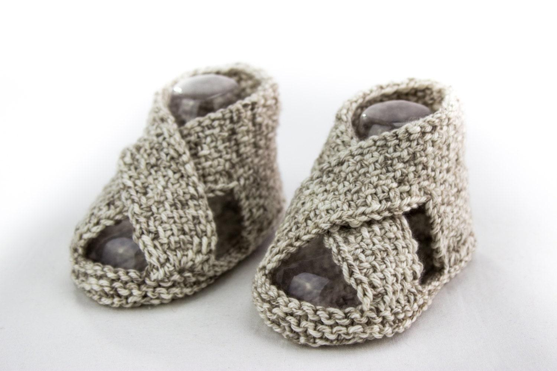 KNITTING PATTERN Baby Boy Sandal Pattern Cross Over Sandal