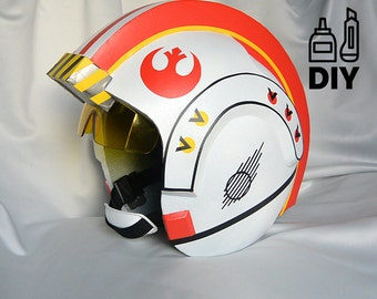 DIY Star Wars Classic X-wing helmet templates for EVA foam
