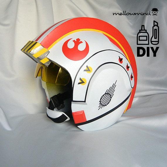 DIY Star Wars Classic X-wing helmet templates for EVA foam