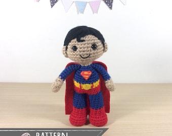 Superman Amigurumi Crochet Doll Pattern