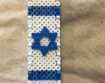 Israel flag mezuzah holder