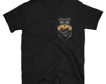 Funny Yorkshire Terrier Pocket T-Shirt Cute Dog Gift