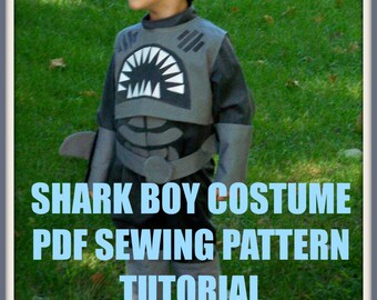 Sharkboy Costume, Shark Boy and Lava Girl Costume Pattern, Sewing Pattern, Digital Download, PDF Sewing Tutorial