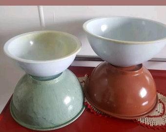 Vintage Texasware and Brookpark Confetti Melmac Bowls