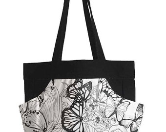 Butterfly Graphic Color It Yourself Totes